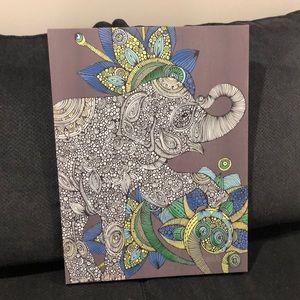 Canvas Elephant Wall Decor